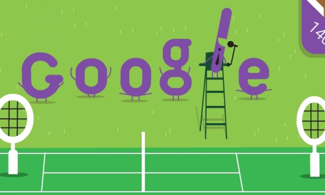 Τουρνουά τένις Γουίμπλεντον: Το Doodle της Google για τα 140 χρόνια του θεσμού!