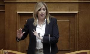 Βουλή – Γεννηματά κατά Τσίπρα: Όλοι έχουν καταλάβει ότι μας βάλατε τη θηλιά στο λαιμό