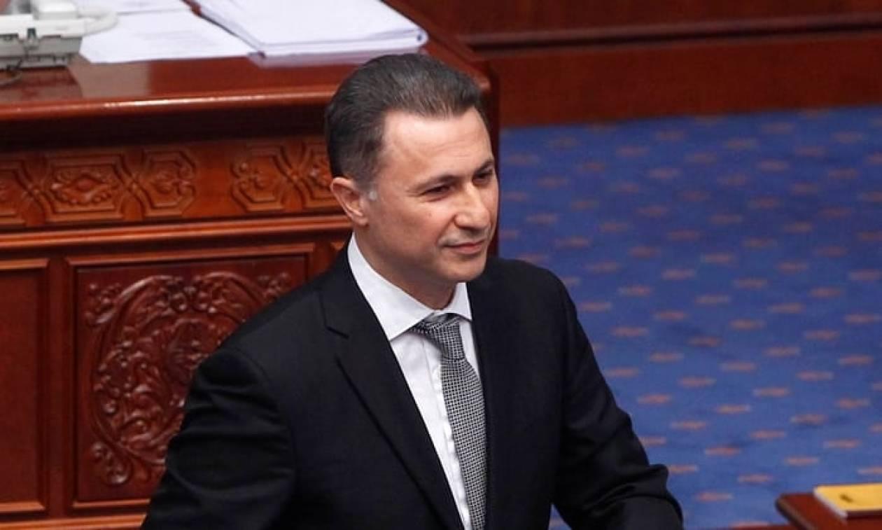 Σκόπια: Απαγόρευση εξόδου από τη χώρα για τον τέως πρωθυπουργό Νίκολα Γκρουέφσκι