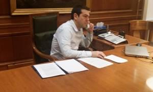 Τηλεφωνική επικοινωνία Τσίπρα - Μέϊ για το Κυπριακό