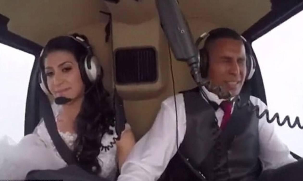 Βίντεο - σοκ: Νύφη σκοτώθηκε, ενώ πήγαινε με ελικόπτερο στην εκκλησία – Κατέγραψε το θάνατό της