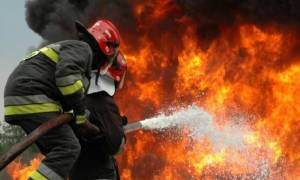 Φωτιά στο Χαλάνδρι κοντά στο Μετρό
