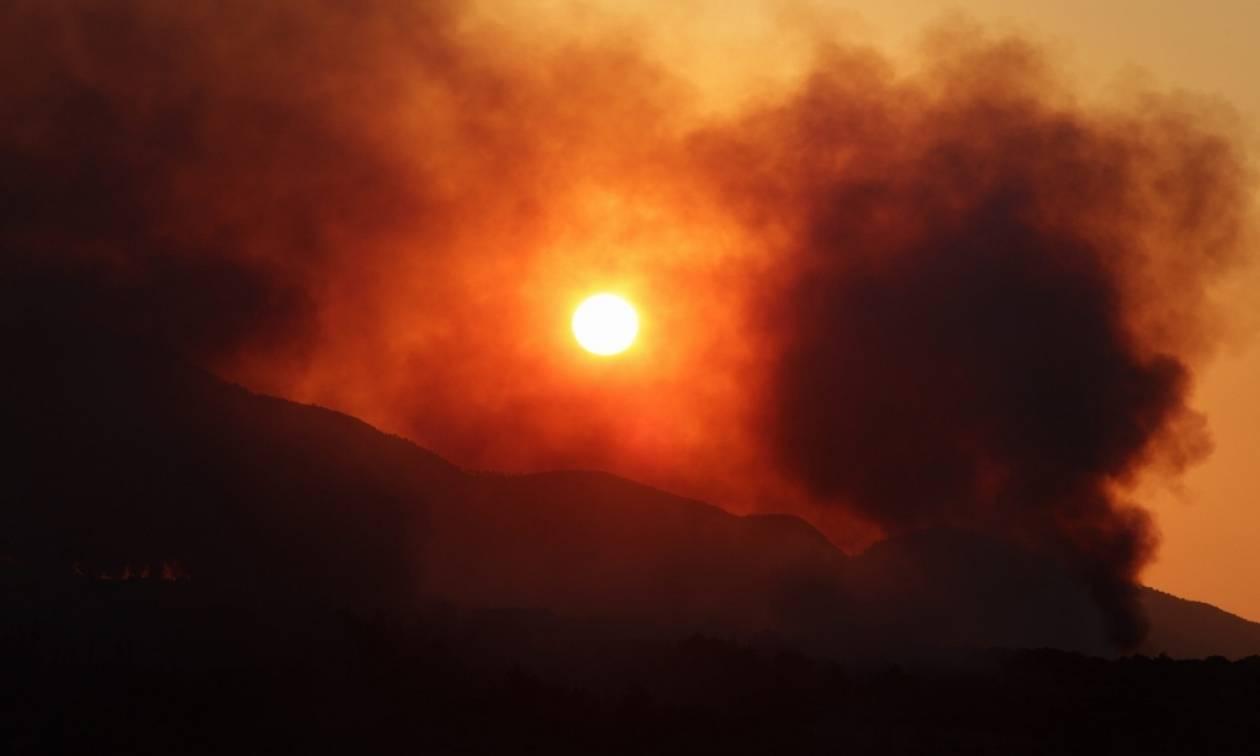 Ζάκυνθος: Εκτός ελέγχου η φωτιά - Στάχτη περισσότερα από 1.000 στρέμματα