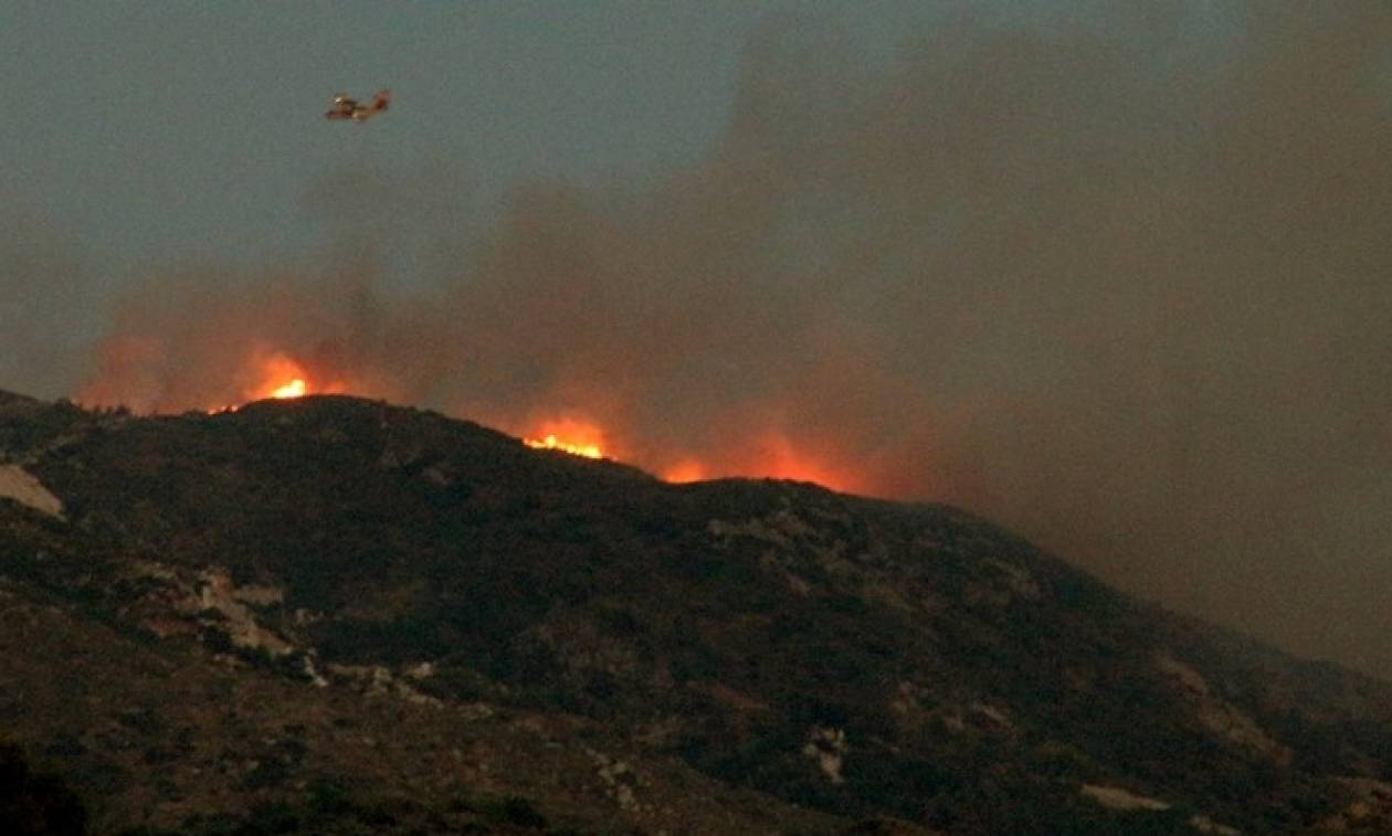 Φωτιά τώρα - Ζάκυνθος: Σε ύφεση η πυρκαγιά στην περιοχή των Βολιμών