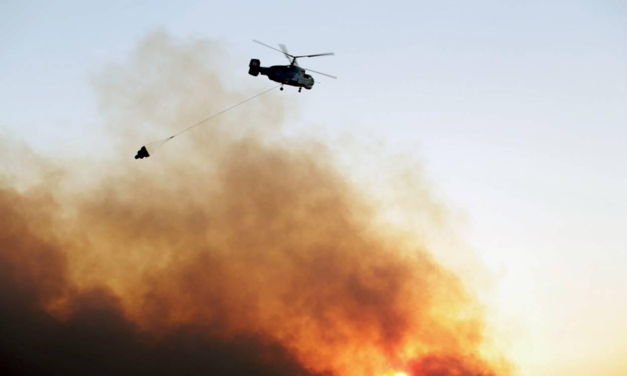 Μεγάλη φωτιά στο Ζευγολατιό Κορινθίας