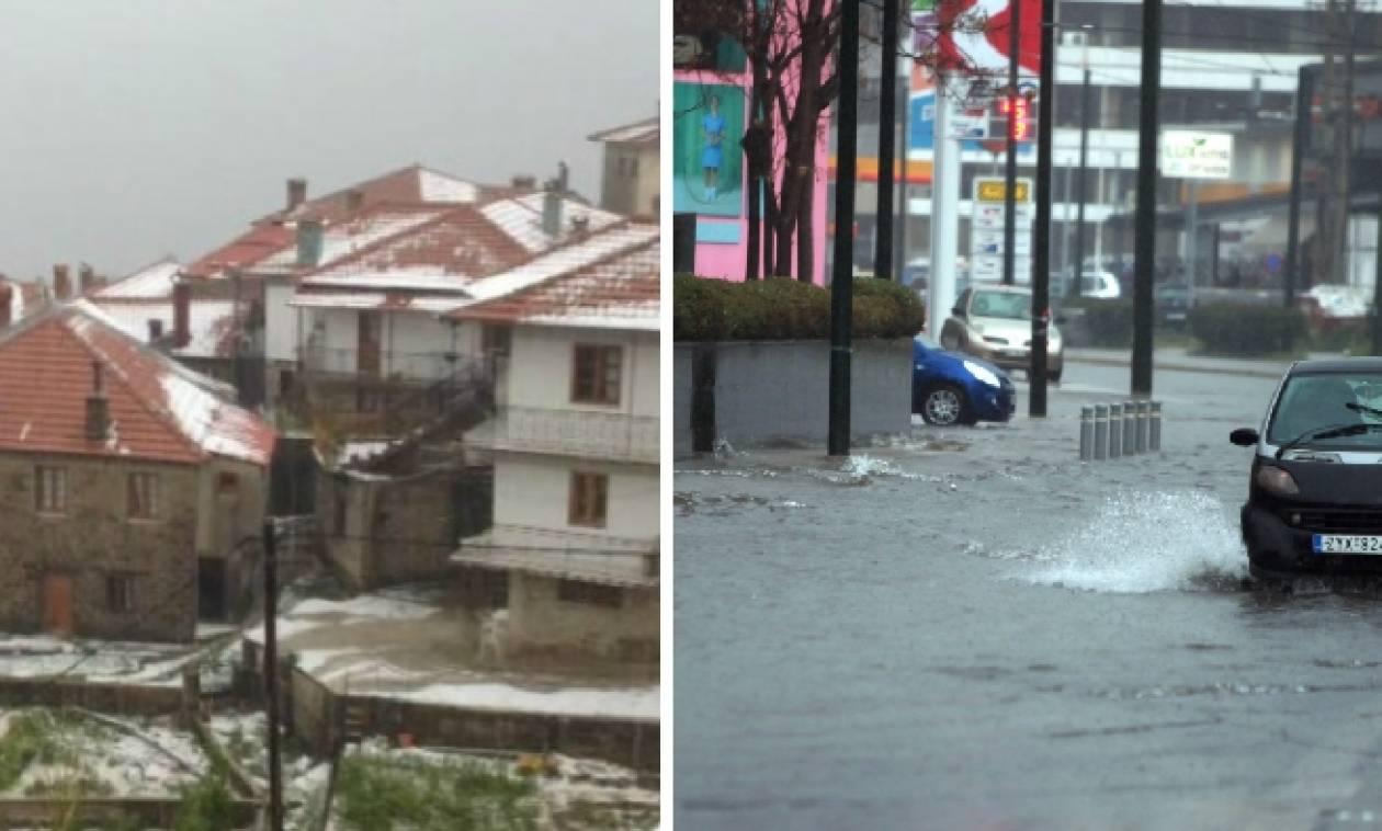 Καιρός: H «Μέδουσα» χτύπησε αλύπητα την Ελλάδα – Καταιγίδες, καταστροφές και χαλάζι
