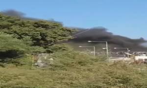 Μυτιλήνη: Ένταση και φωτιές έξω από το hotspot στη Μόρια