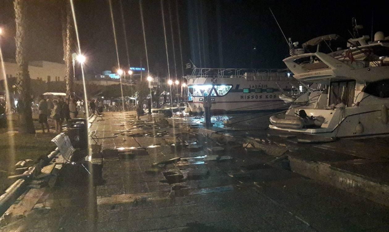 Σεισμός Κως: Σοβαρές ζημιές στο λιμάνι του νησιού – Αδύνατον να καταπλεύσουν πλοία