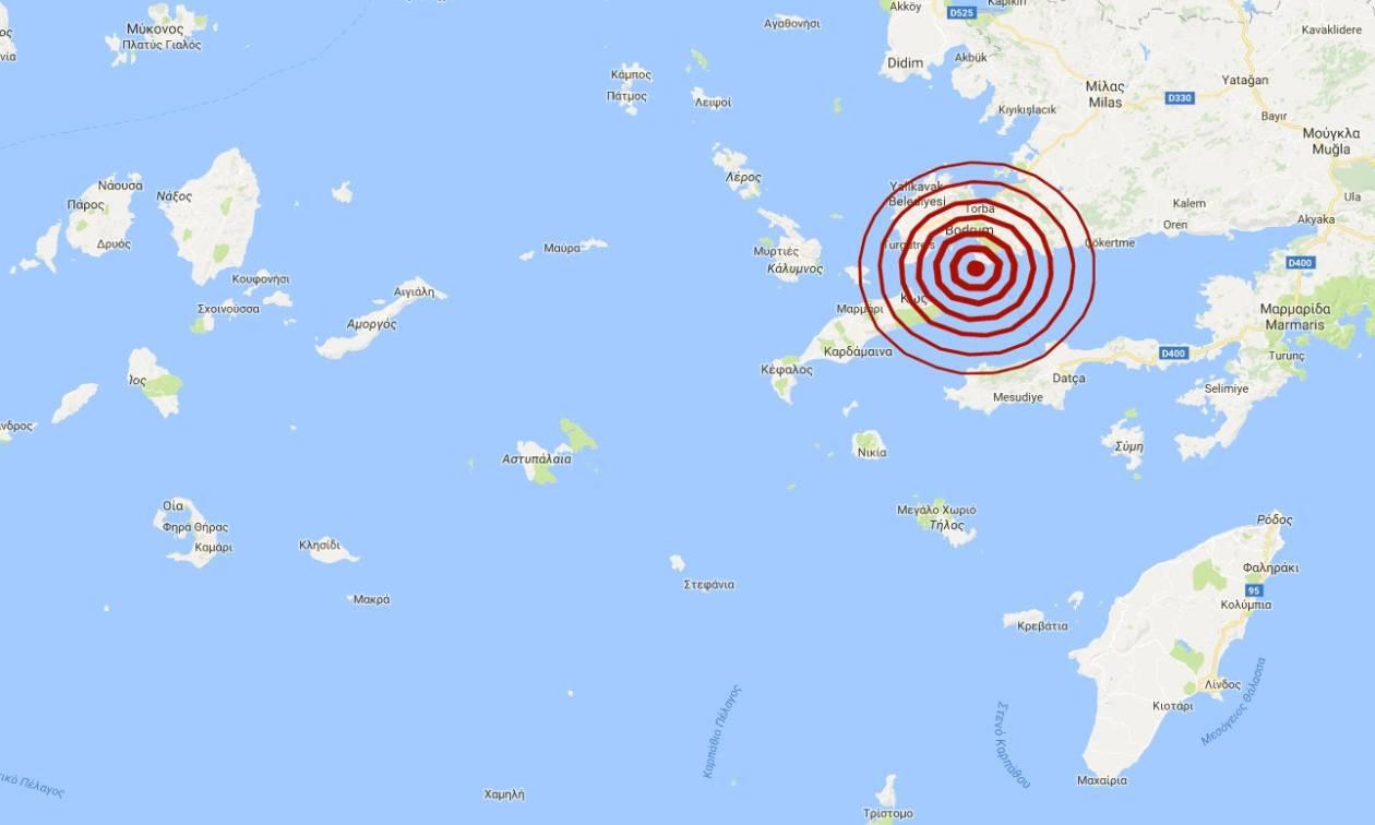 Σεισμός: Νέος μετασεισμός κοντά στην Κω (pic)