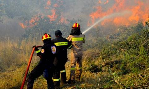 Υπό μερικό έλεγχο η φωτιά στο Ηράκλειο