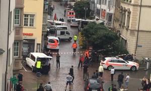 Άνδρας με αλυσοπρίονο τραυμάτισε πέντε ανθρώπους στην Ελβετία (pic & vid)