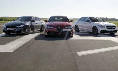 Βίντεο-Σοκ: Επικίνδυνες κόντρες θανάτου ανάμεσα σε μια Άλφα Ρομέο, BMW και Μερσεντές.