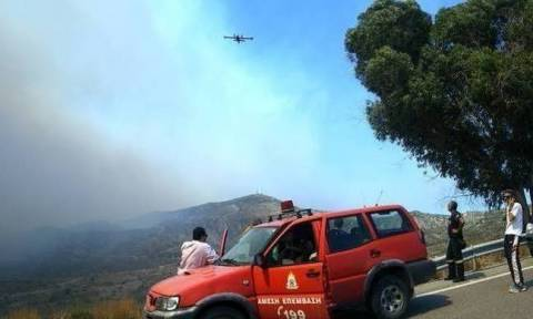 Ο χάρτης πρόβλεψης κινδύνου πυρκαγιάς για την Τρίτη 25/7 (pic)