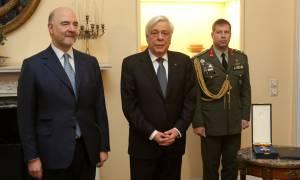 Σαφές μήνυμα Παυλόπουλου σε Μοσκοβισί: Θα τηρήσουμε στο ακέραιο τις συμφωνίες