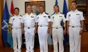 Συνάντηση Αρχηγού ΓΕΕΘΑ με Αξιωματικούς του Πολεμικού Ναυτικού της Κίνας