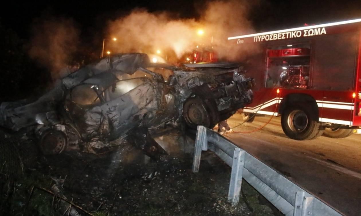 Τροχαίο δυστύχημα στην Κατερίνη - Απανθρακώθηκε ο οδηγός