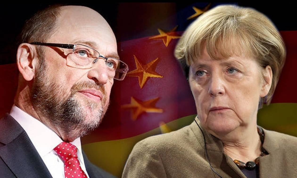 Αγώνας μέχρις εσχάτων μεταξύ Μέρκελ και Σουλτς οχτώ εβδομάδες πριν τις εκλογές στη Γερμανία