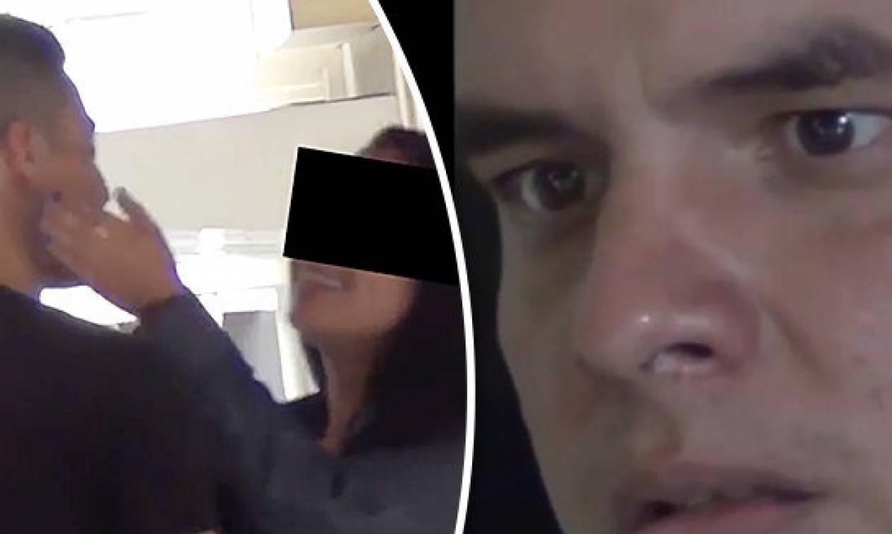 Είδε από κρυφή κάμερα την κοπέλα του να τον απατά με άλλον. Η αντίδρασή του ήταν τρομακτική (video)