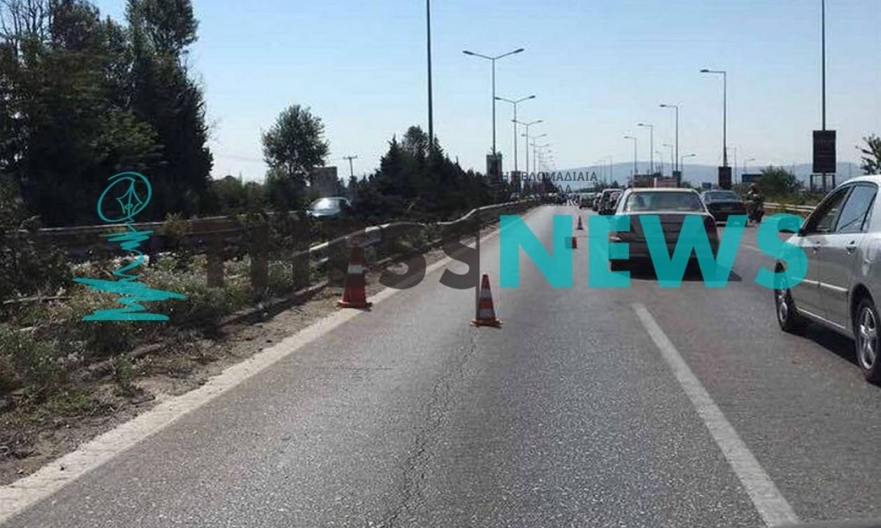 Εξαπλή καραμπόλα στην Εθνική Οδό Θεσσαλονίκης - Μουδανιών