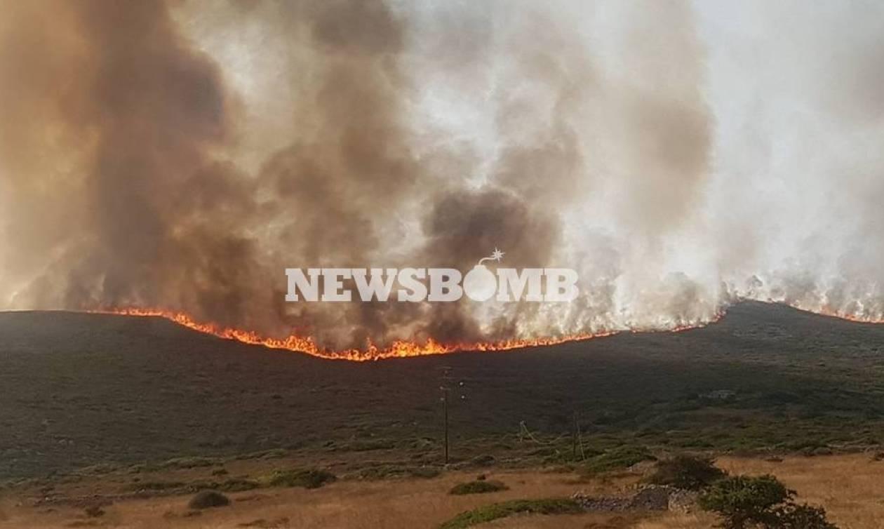 Κύθηρα: Ολονύκτια μάχη με τις φλόγες - Κάηκε ο Μυλοπόταμος - Σε κίνδυνο Καρβουνάδες και Φράτσια
