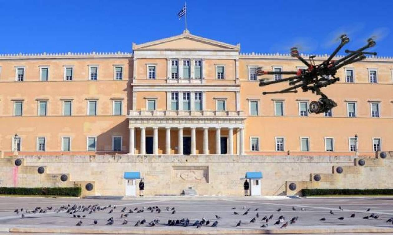 Τα drones προκαλούν... πανικό στη Βουλή