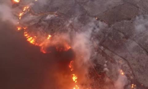 Βίντεο - σοκ: Δείτε τη φωτιά στα Κύθηρα από ψηλά (vid)