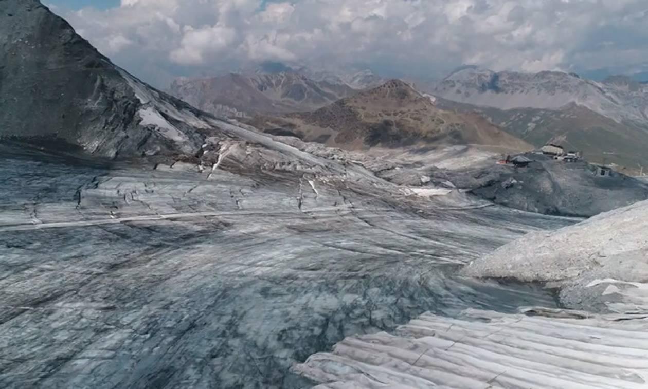 Συγκλονιστικό βίντεο από τον καύσωνα «Εωσφόρο» που «σαρώνει» τις Άλπεις (vid)