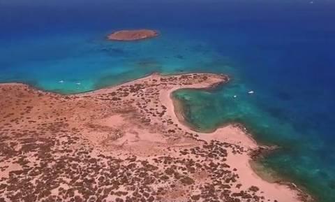 Χρυσή, το παραδεισένιο νησάκι με το μεγαλύτερο φυσικό κεδρόδασος της Ευρώπης από ψηλά (Vid)