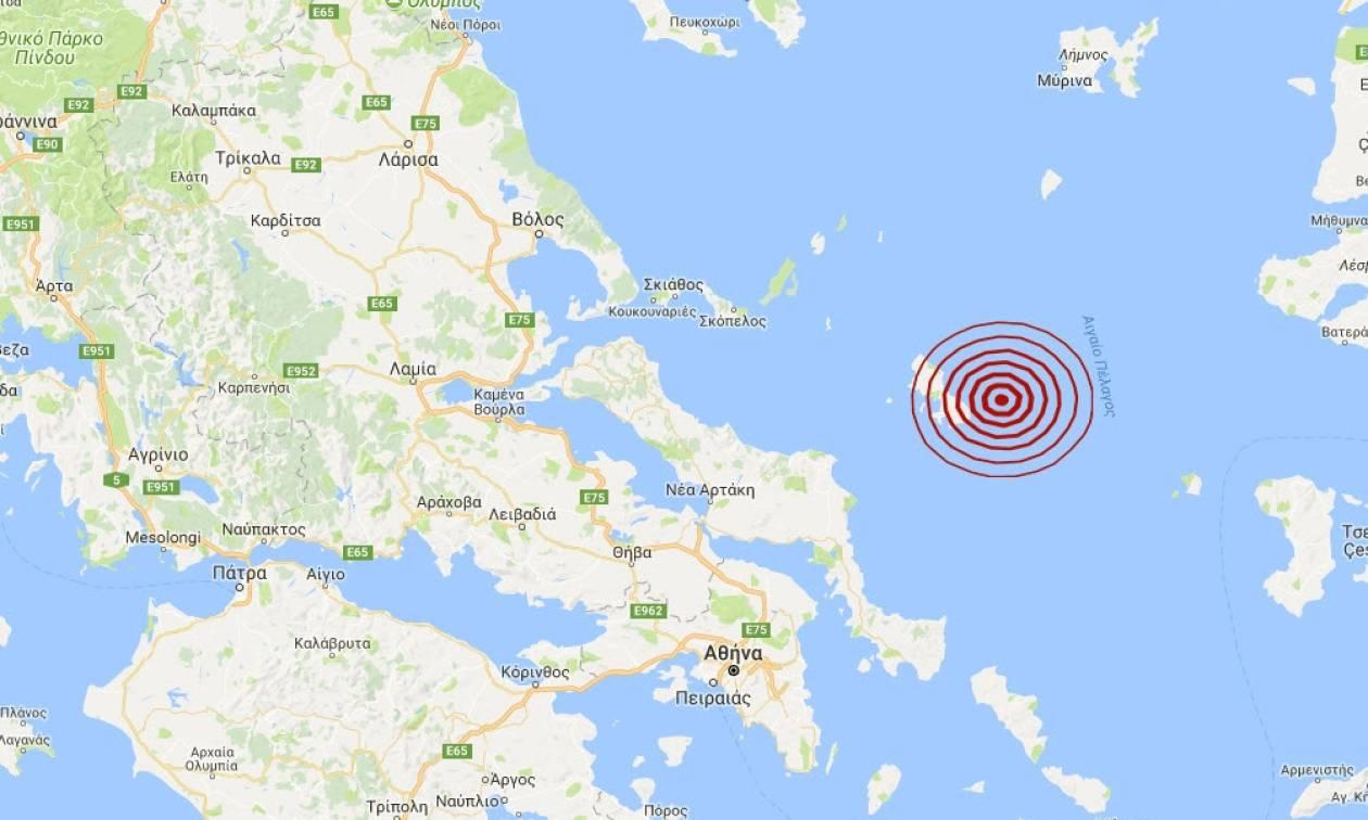 Σεισμός ανατολικά της Σκύρου (pics)