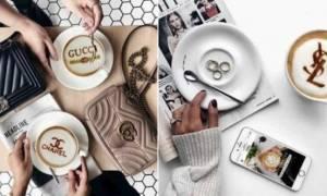 Αυτή είναι η τρέλα στο Instagram: Latte με λογότυπα... σχεδιαστών! (pics)