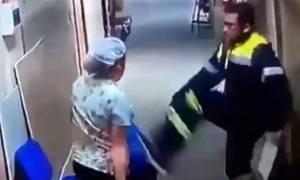 Σοκαριστικό βίντεο: Νοσηλευτής κλωτσά έγκυο στην κοιλιά (video)
