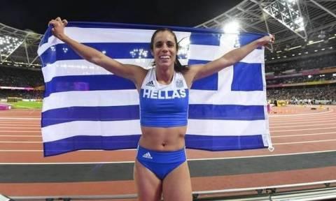 Греческая спортсменка Катерина Стефаниди стала чемпионкой мира в дисциплине прыжки с шестом