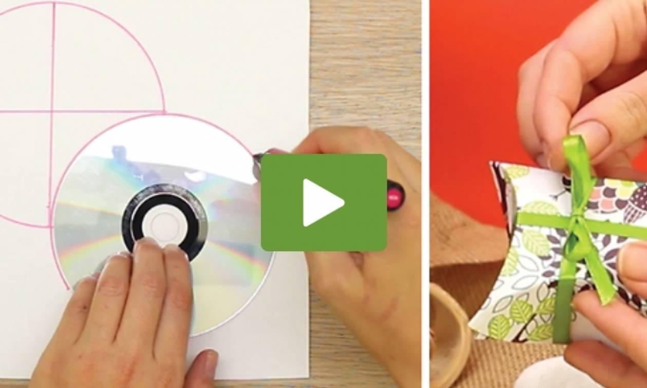 Ποιος είπε ότι τα CD χρησιμεύουν μόνο για να ακούτε μουσική; Δείτε τι έφτιαξε (video)