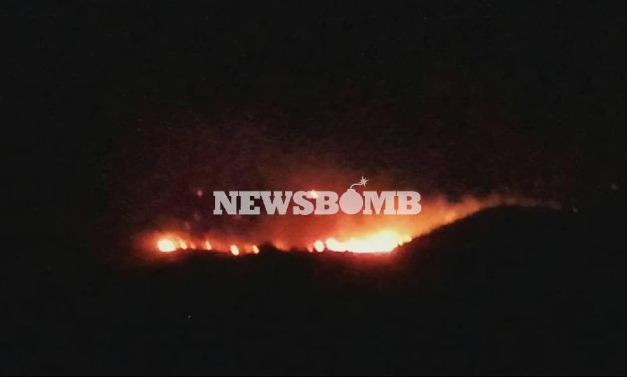Φωτιά ΤΩΡΑ: Σε ύφεση η πυρκαγιά στην Κέα