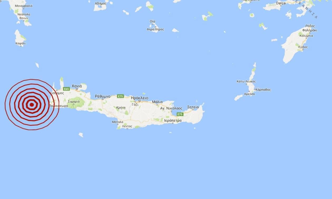 Σεισμός δυτικά της Κρήτης (pics)