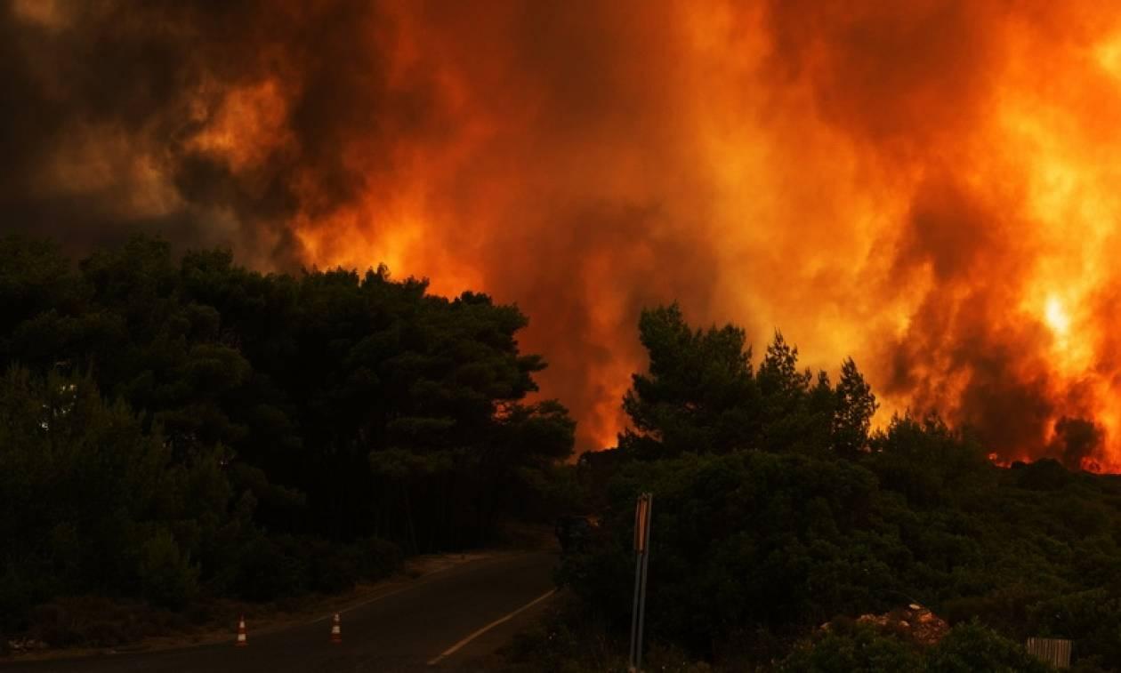 Φωτιά Κάλαμος: Διακοπή ρεύματος ΤΩΡΑ στους Αγίους Αποστόλους