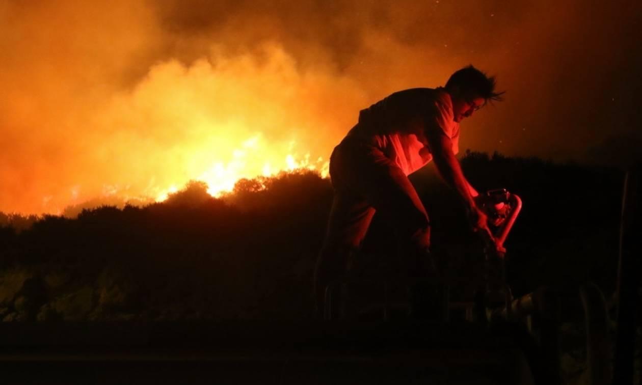 Φωτιά ΤΩΡΑ: Ενισχύθηκαν οι πυροσβεστικές δυνάμεις στον Κάλαμο Αττικής