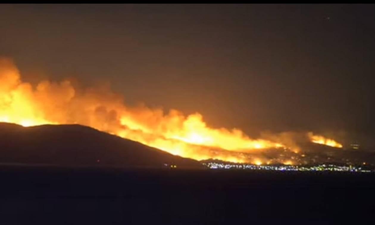 Φωτιά Κάλαμος: Ανεξέλεγκτη η πυρκαγιά - Κατευθύνεται προς το Βαρνάβα