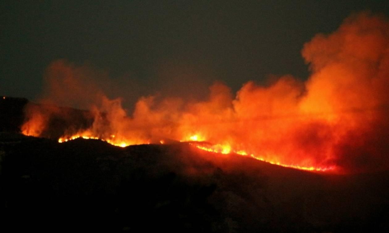 Φωτιά Κάλαμος: Έφτασε στο Βαρνάβα το μέτωπο της πυρκαγιάς - Απειλούνται σπίτια
