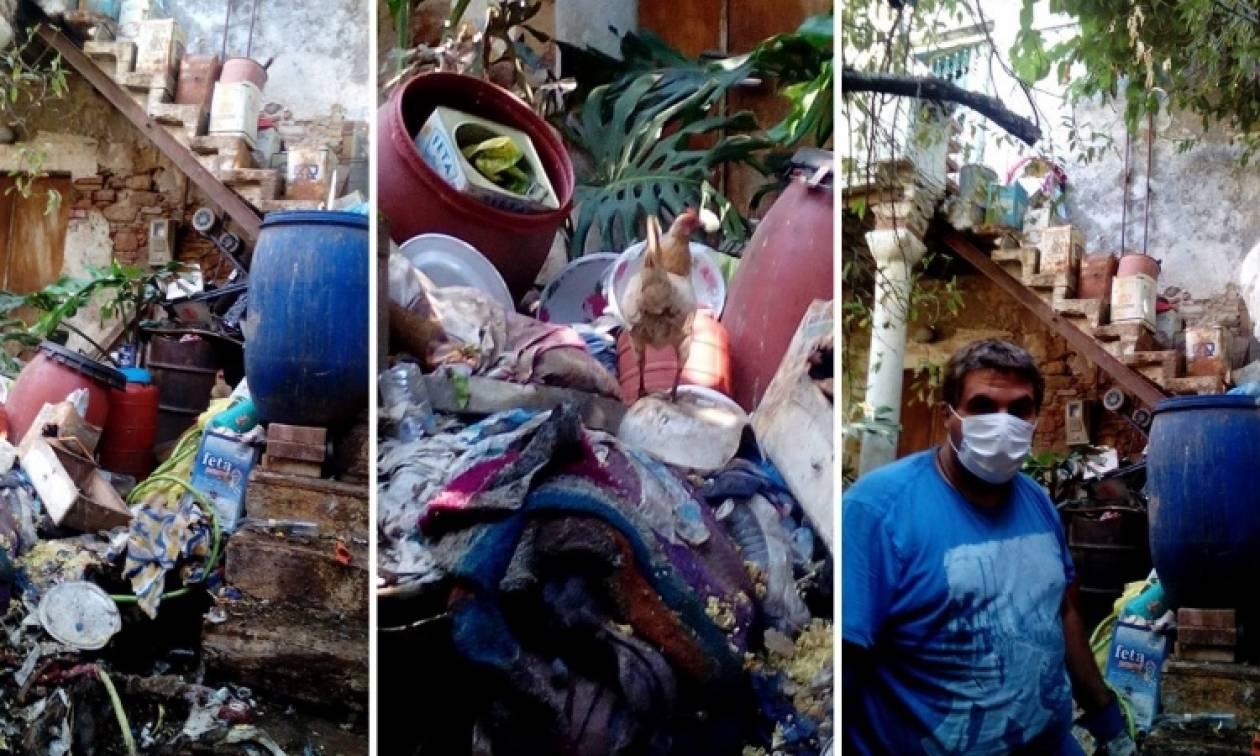 Σοκ στη Χίο: Ηλικιωμένη ζούσε σε τρώγλη ανάμεσα σε σκουπίδια, περιττώματα και τρωκτικά! (pics)