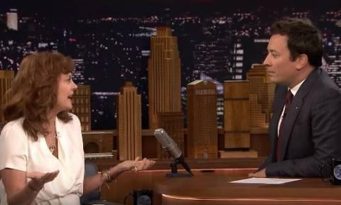Σούζαν Σαράντον: Η διάσημη ηθοποιός που «τάραξε τα νερά» στην εκπομπή του Τζίμι Φάλον (Vids)
