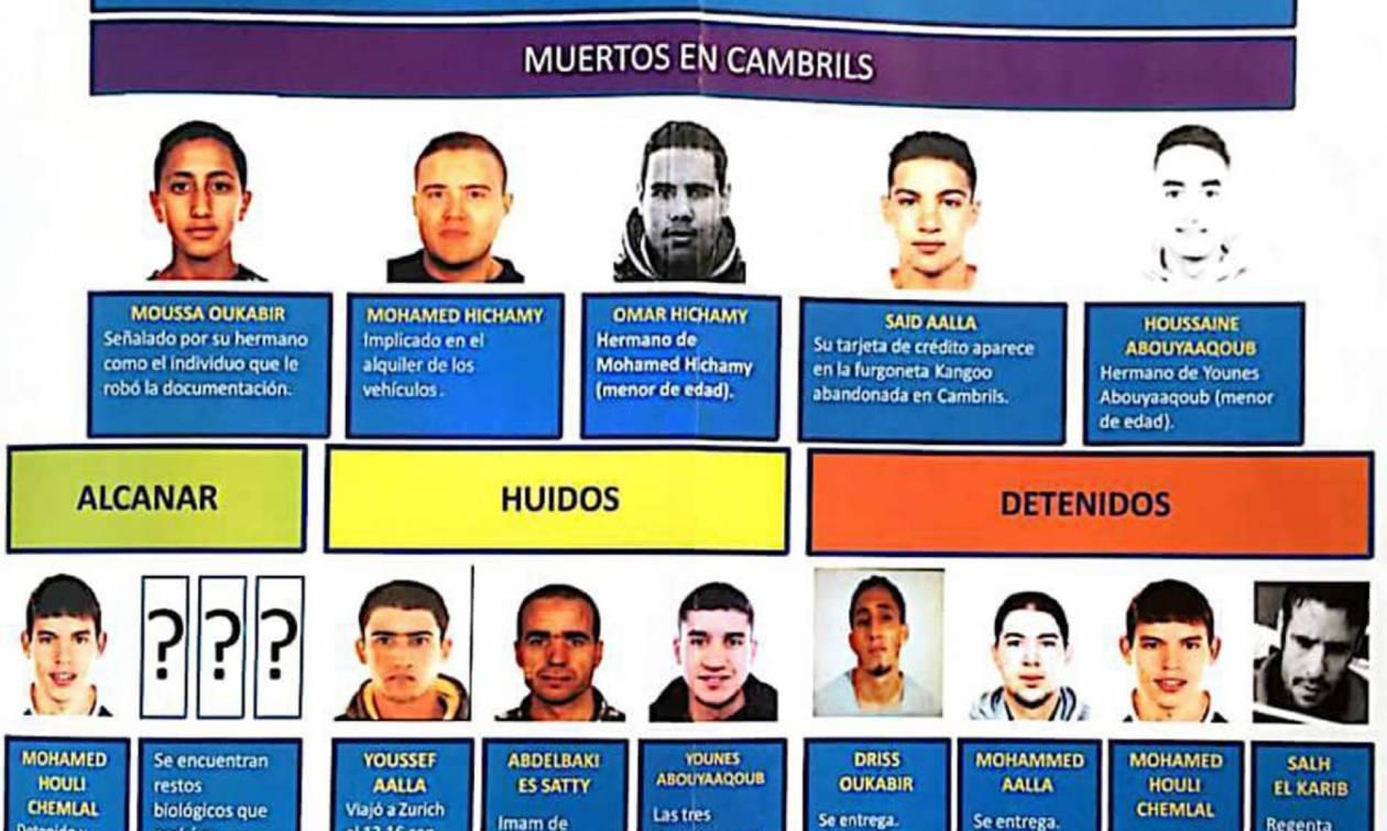 Τρομοκρατική επίθεση Βαρκελώνη: Αυτοί είναι οι τζιχαντιστές που έσπειραν το θάνατο στη Las Ramblas