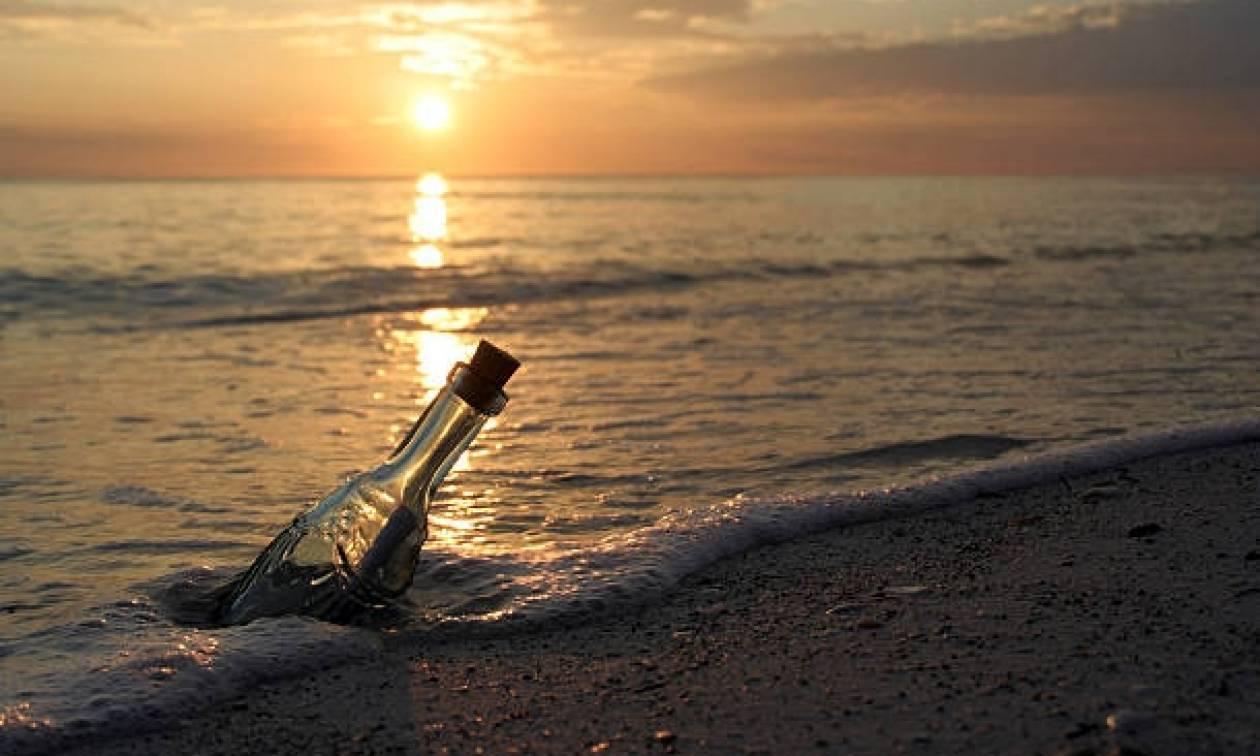 Απίστευτο: Παλαιστίνιος ψαράς βρήκε μπουκάλι με μήνυμα από τη Ρόδο!
