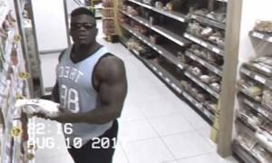 Δεν φαντάζεστε τι έκανε αυτός ο bodybuilder μέσα σε μαγαζί! (video)