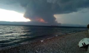 Καίει ακόμα η φωτιά στο Σοφικό Κορινθίας - Συγκλονιστικές φωτογραφίες