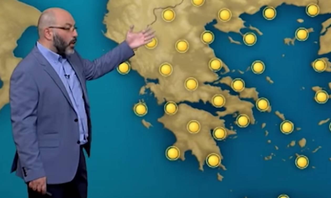 Ζέστη μέχρι την Δευτέρα, κακοκαιρία Τρίτη και Τετάρτη προβλέπει ο Σάκης Αρναούτογλου (video)