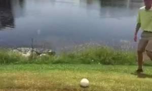 Ασυγκράτητος! Η απίθανη αντίδραση ενός... αποτυχημένου παίκτη του γκολφ (video)
