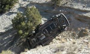 Τραγωδία στη Λάρισα: Αγροτικό αυτοκίνητο έπεσε σε χαράδρα -  Ένας νεκρός από την πτώση