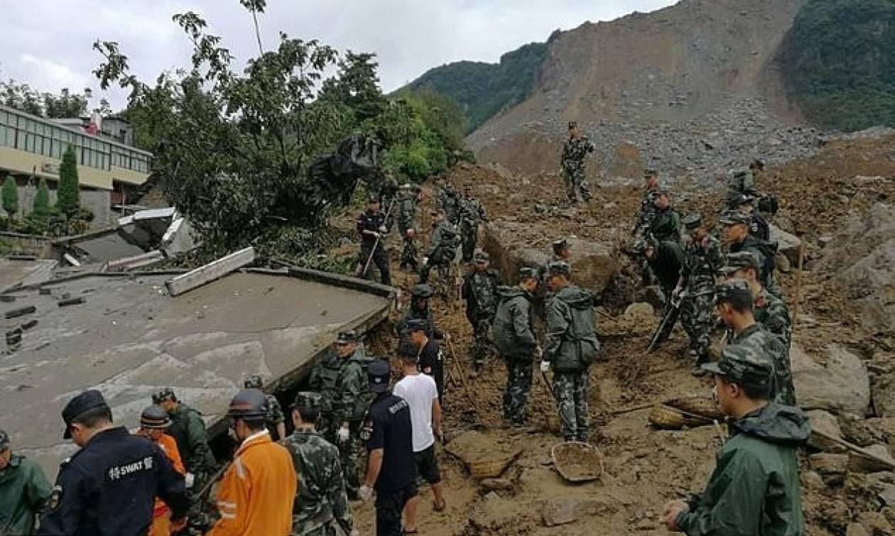Δεκάδες νεκροί και αγνοούμενοι μετά από κατολίσθηση στην Κίνα (vid)