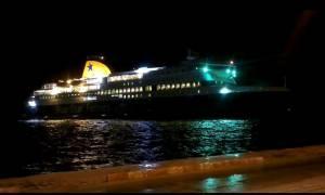 Συναγερμός στην Ίο: Προσάραξε στο λιμάνι το Blue Star Patmos – Δείτε βίντεο